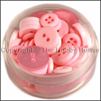 Mixed Buttons - Simply Pink