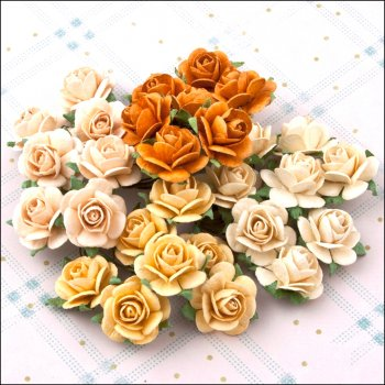 The Hobby House Mulberry Paper Roses - Gold to Go medium