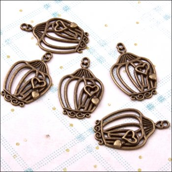The Hobby House Metal Charms & Spacers - Birdcages 3