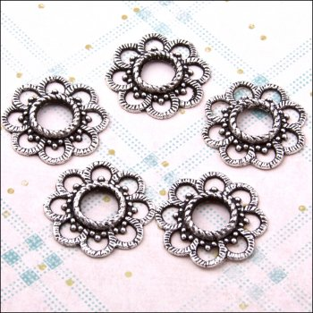 The Hobby House Metal Charms & Spacers - Large Blossom Spacers