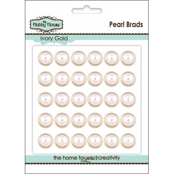 Pearl Brad 12mm - Ivory Gold (slight seconds)
