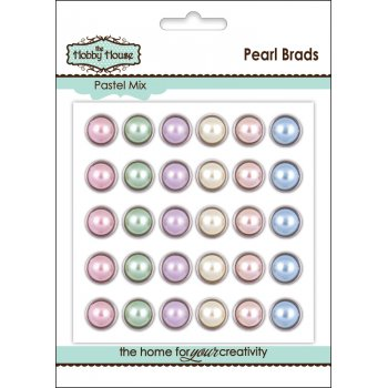 The Hobby House Pearl Brad 12mm - Pastel Mix