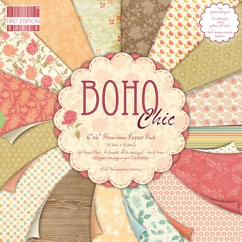 First Edition 6x6 Paper Pad - Boho Chic (UK DELIVERY ONLY)