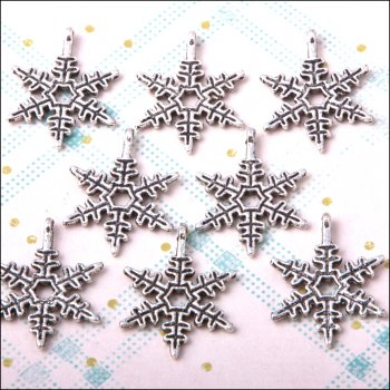 The Hobby House Metal Charms & Spacers - Snowflake 2