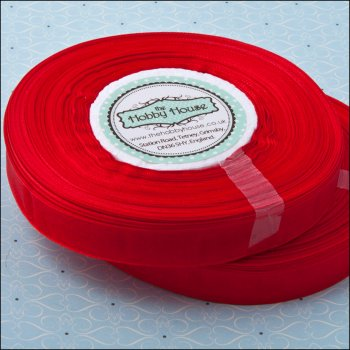 The Hobby House Organza Ribbon Roll - Red