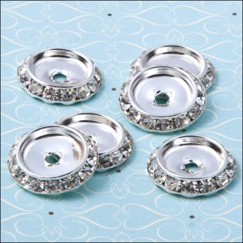 The Hobby House Diamante Round Spacer - 20mm