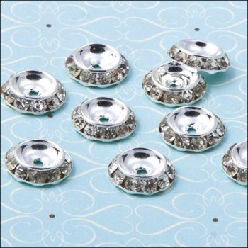 The Hobby House Diamante Round Spacer - 13mm