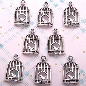 The Hobby House Metal Charms & Spacers - Birdcages 4