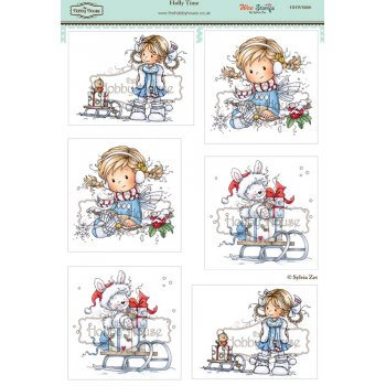 The Hobby House Wee Stamps - Holly Time