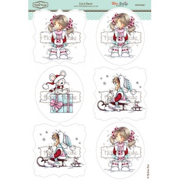 The Hobby House Wee Stamps - Let it Snow SLIGHT SECONDS