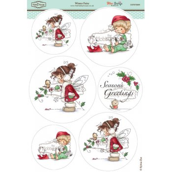 The Hobby House Wee Stamps - Winter Fairy