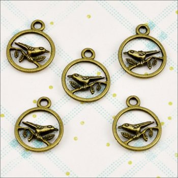 The Hobby House Metal Charms & Spacers - Bird Branch