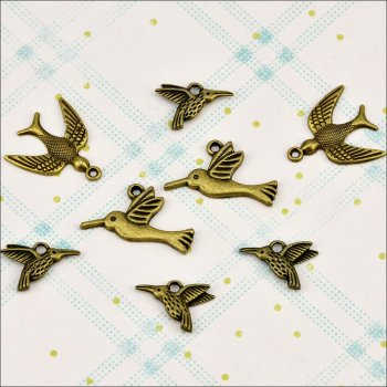 The Hobby House Metal Charms & Spacers - Wild Birds