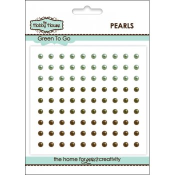 The Hobby House Self Adhesive Pearls - 3mm Green to Go