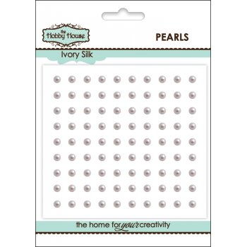 The Hobby House Self Adhesive Pearls - 3mm Ivory Silk SLIGHT SECONDS