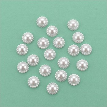 The Hobby House Flat Backed Pearl Medallion - 11mm