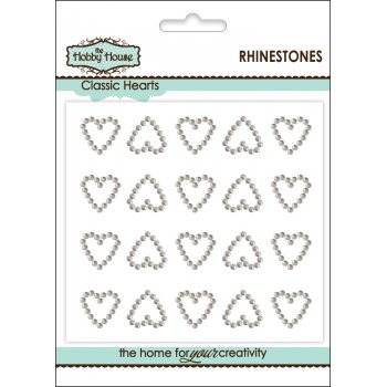 The Hobby House Self Adhesive Wedding Inspiration - Rhinestone Classic Hearts SLIGHT SECONDS