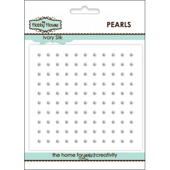 The Hobby House Self Adhesive Pearls - 2mm Ivory Silk Pearls SLIGHT SECONDS