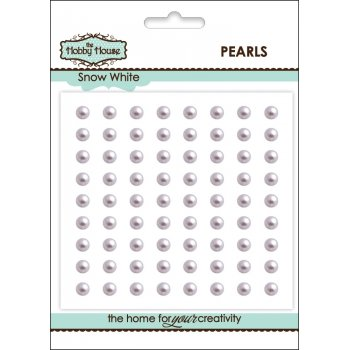 The Hobby House Self Adhesive Pearls - 4mm Snow White (slight seconds)