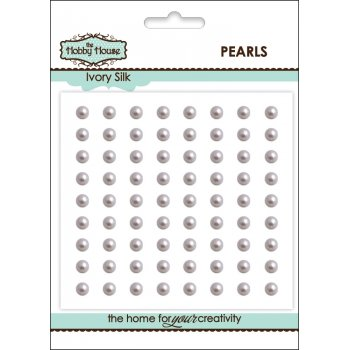 Self Adhesive Pearls - 4mm Ivory Silk SLIGHT SECONDS