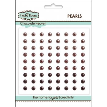 The Hobby House Self Adhesive Pearls - 4mm Chocolate Heaven