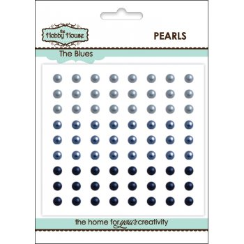 The Hobby House Self Adhesive Pearls - 4mm The Blues