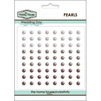 The Hobby House Self Adhesive Pearls - 4mm Wedding Day SLIGHT SECONDS