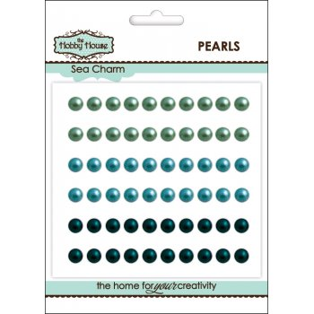 The Hobby House Self Adhesive Pearls - 5mm Sea Charm