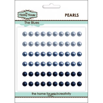 The Hobby House Self Adhesive Pearls - 5mm The Blues