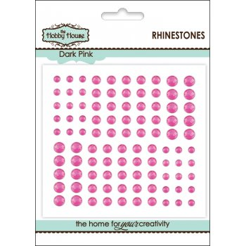 The Hobby House Self Adhesive Rhinestones - Dark Pink SLIGHT SECONDS