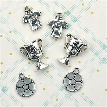 The Hobby House Metal Charms & Spacers - Football Crazy