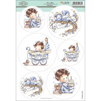 The Hobby House Wee Stamps - It's a Boy