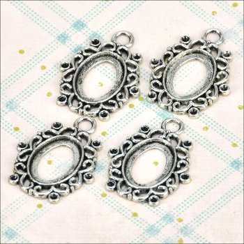 The Hobby House Metal Charms & Spacers - Ornate Oval Pendant