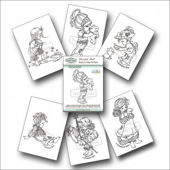 The Hobby House Elisabeth Bell Ready to Colour Art Book - Merry Weather