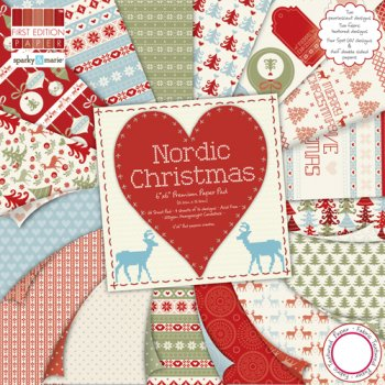 "First Edition Paper Nordic Christmas 6"" x 6"" Paper Pad (UK DELIVERY ONLY)"