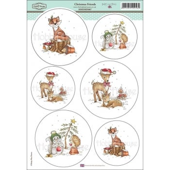 The Hobby House Daisy Mae Draws Card Toppers - Christmas Friends SLIGHT SECONDS