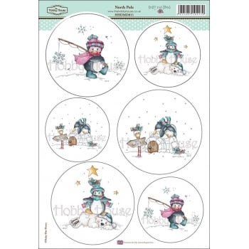 The Hobby House Daisy Mae Draws Card Toppers - North Pole SLIGHT SECONDS