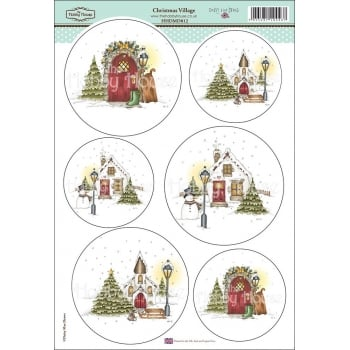 The Hobby House Daisy Mae Draws Card Toppers - Christmas Village SLIGHT SECONDS