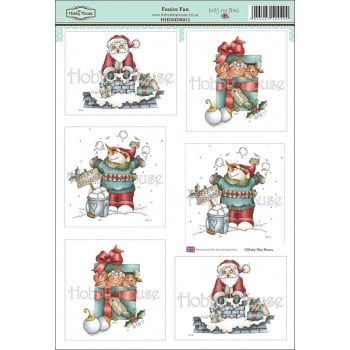 The Hobby House Daisy Mae Draws Card Toppers - Festive Fun SLIGHT SECONDS