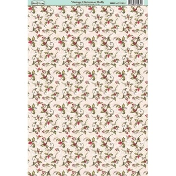 The Hobby House Vintage Christmas Holly Paper