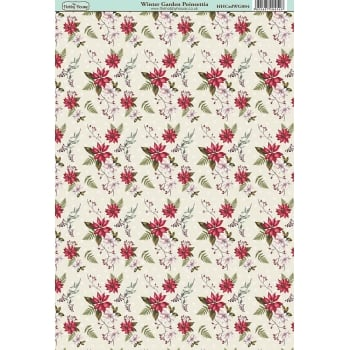 The Hobby House Winter Garden Poinsettia Paper
