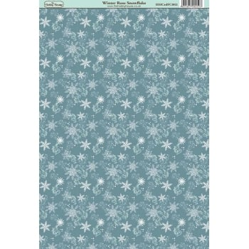 The Hobby House Winter Rose Snowflake Paper
