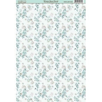 The Hobby House Winter Rose Floral Paper