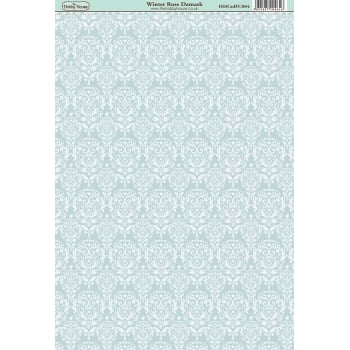 The Hobby House Winter Rose Damask Paper
