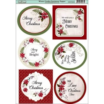 The Hobby House Winter Garden Sentiments Topper
