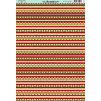 The Hobby House Jolly Christmas Stripe Paper