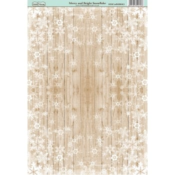 The Hobby House Merry & Bright Snowflake Paper