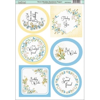 The Hobby House Sweet Meadow Sentiment Topper