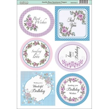 The Hobby House Amelia Rose Sentiment Topper SLIGHT SECONDS