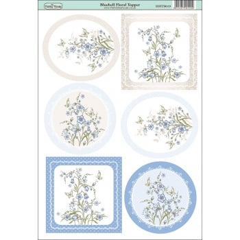 The Hobby House Bluebell Floral Topper SLIGHT SECONDS